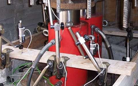 martinetti per prove di carico su pali