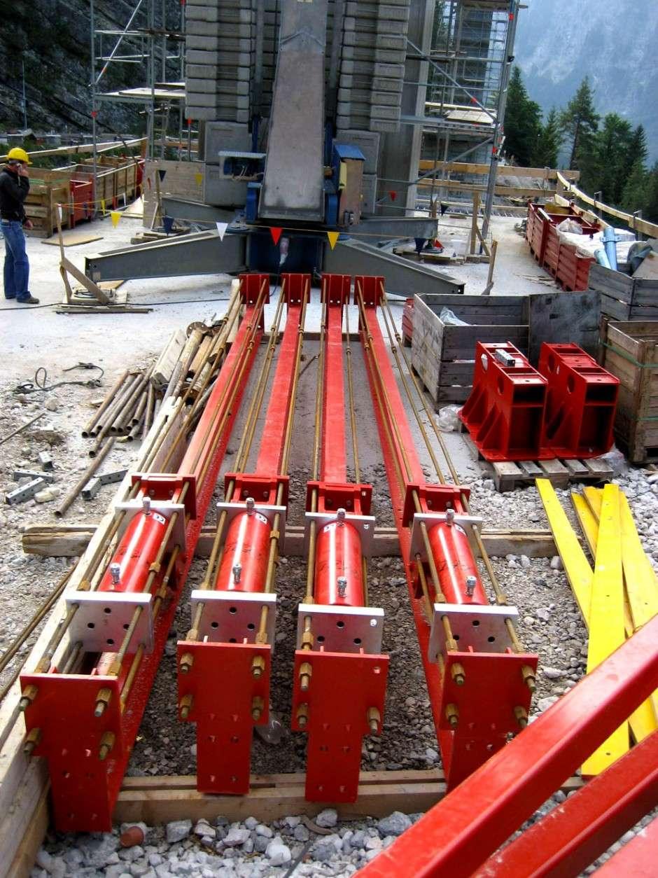 Cilindri idraulici per costruzioni ad alto tonnellaggio
