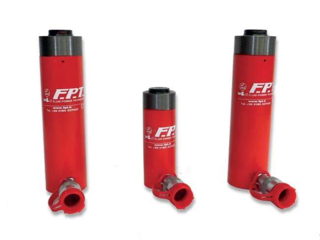 Single acting cylinders with spring return