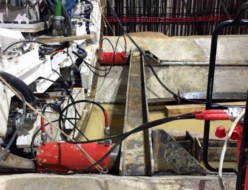 Cilindri idraulici FPT ad alto tonnellaggio per assemblare una fresa meccanica