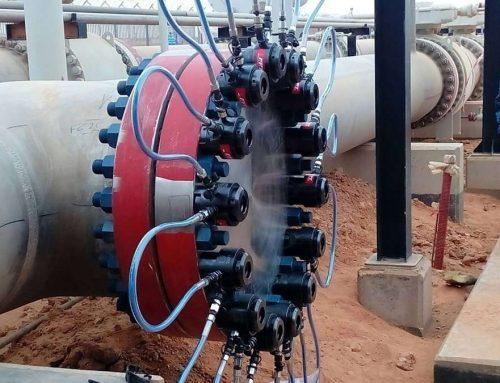 Tensionatori idraulici FPT per il serraggio di un nuovo impianto di pipeline